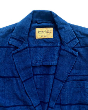 TWO BUTTON JACKET - BLUE STRIPE