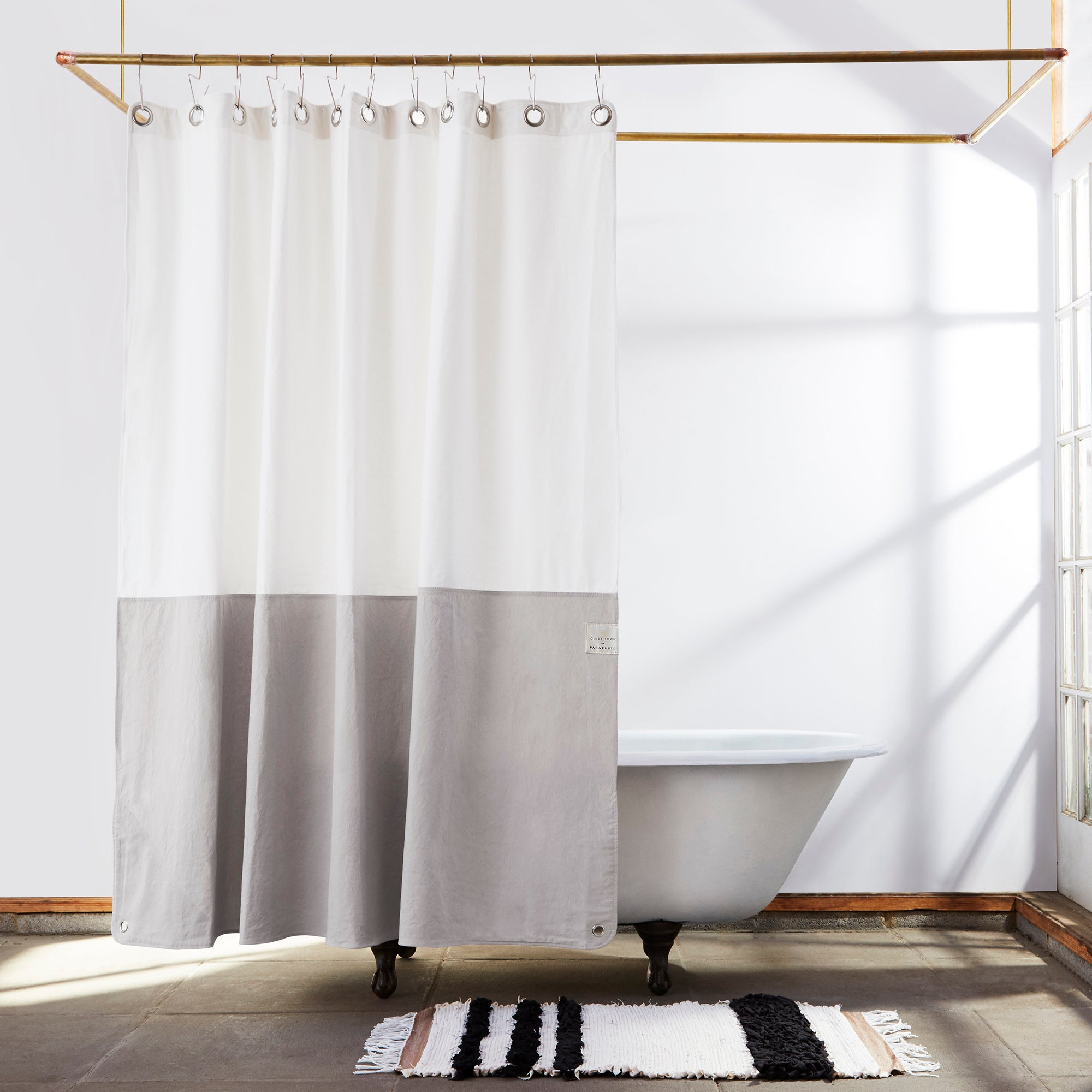 CANVAS SHOWER CURTAIN - ORIENT DRIFTWOOD