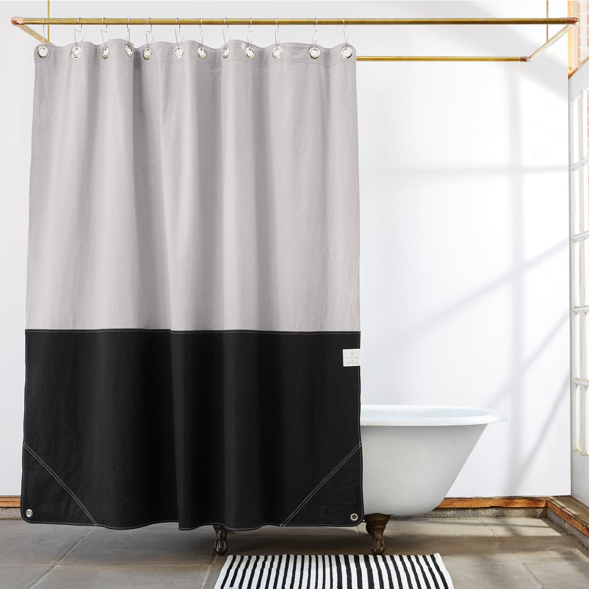 CANVAS SHOWER CURTAIN - ORIENT TIDEPOOL