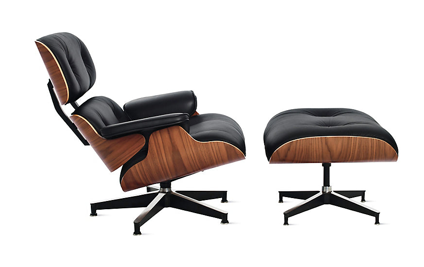 EAMES LOUNGE CHAIR AND OTTOMAN Designed by Charles and Ray Eames for Herman Miller®