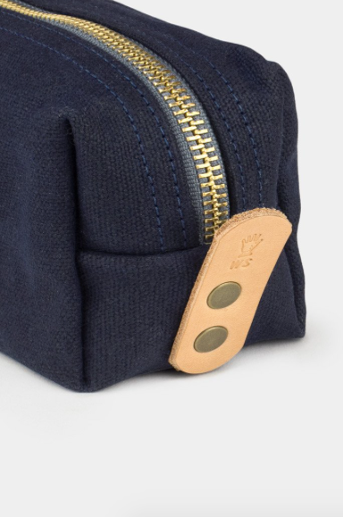WAXED CANVAS DOPP KIT - NAVY