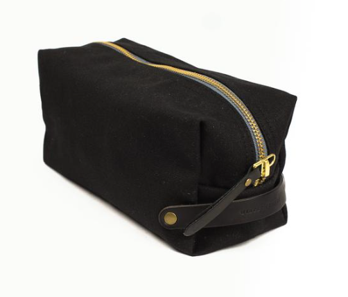 WAXED CANVAS DOPP KIT - BLACK