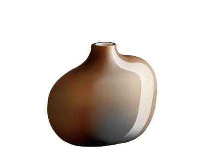 SACCO 01 GLASS VASE - BROWN