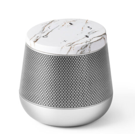 MIAMI SOUND SPEAKER - ALUMINUM/WHITE MARBLE