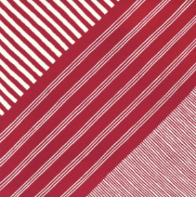 JAPANESE HANDKERCHIEF - RED STRIPE