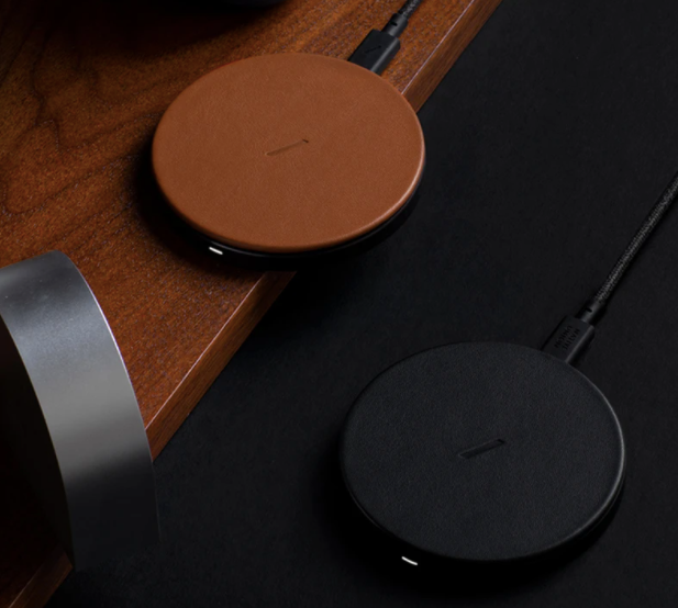 NATIVE UNION DROP WIRELESS CHARGER - Black Leather