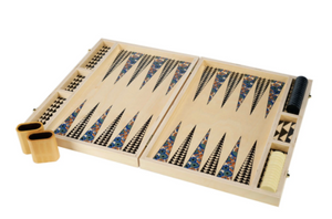 TABLE TOP BACKGAMMON SET - POPPY TEAL