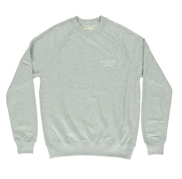 COTTON SWEATSHIRT - WHITE PAPER BOAT