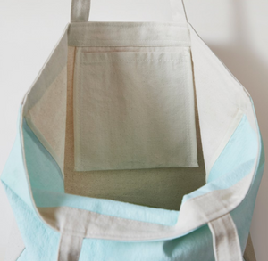 CANVAS TOTE MINT - OVERSIZED
