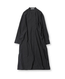 LONG SHIRT DRESS - BLACK
