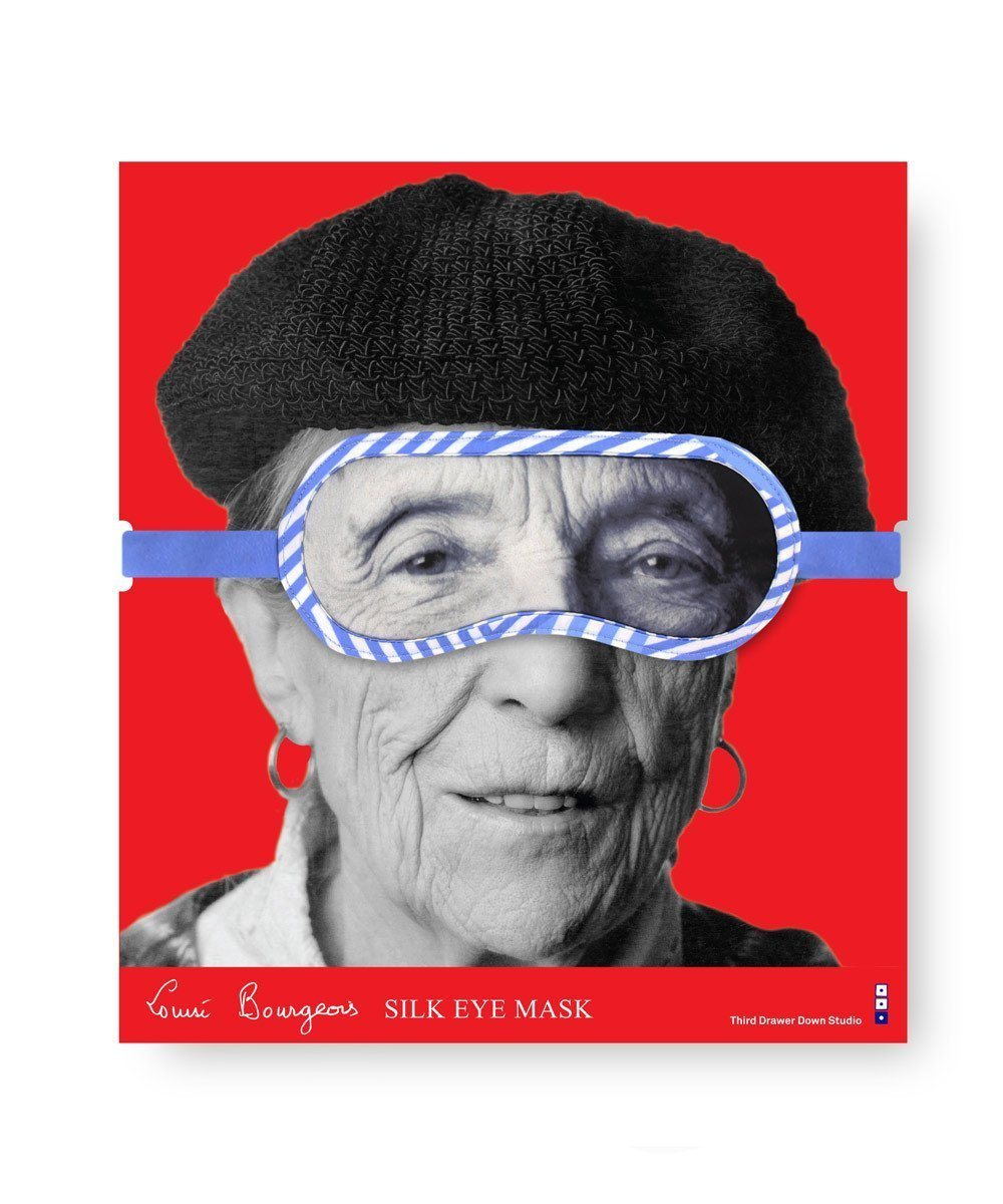 LOUISE BOURGEOIS, SILK PORTRAIT EYE MASK