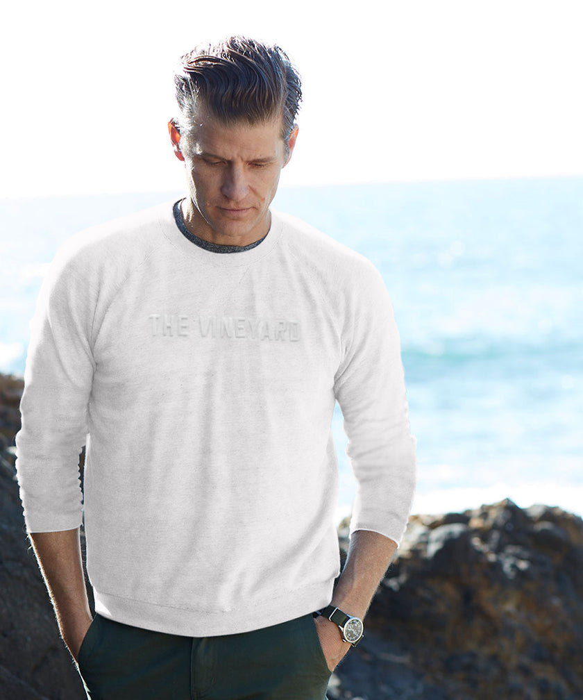 THE VINEYARD CREW SWEATSHIRT - WHITE