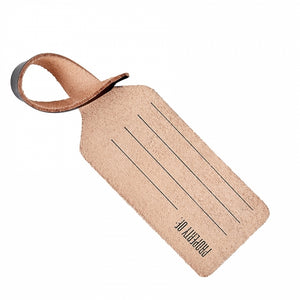 LUGGAGE TAG - BLACK VACHETTA LEATHER