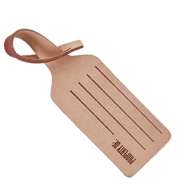 LUGGAGE TAG - RUST VACHETTA LEATHER