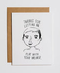 YOUR WEINER - THANK YOU CARD