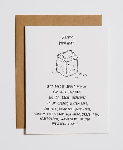 WELLNESS CAKE - BIRTHDAY CARD