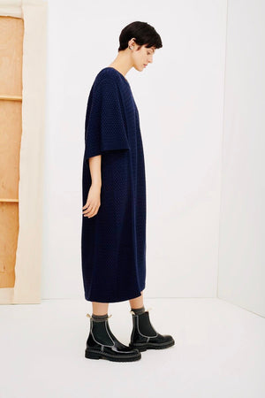 BASKET DRESS - NAVY