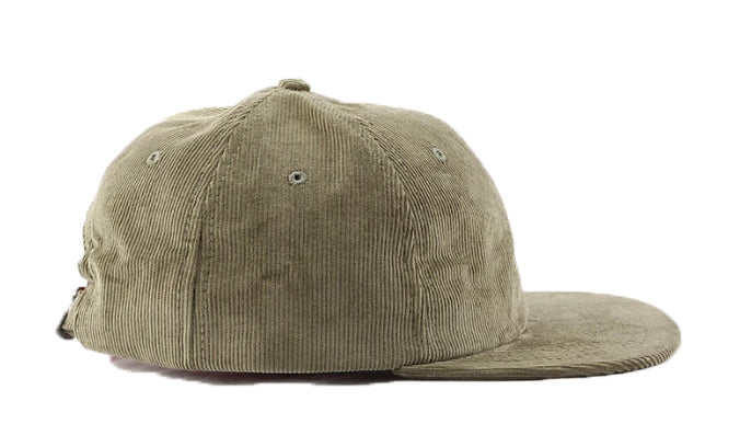 SIX PANEL CORDUROY HAT - MOSS