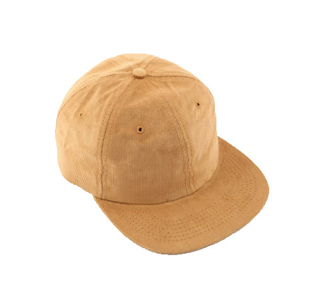 SIX PANEL CORDUROY HAT - CAMEL