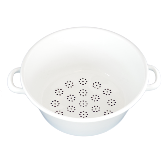 TWO HANDLED ENAMEL SIEVE