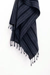 TURKISH TOWEL - CHARCOAL & DARK INDIGO