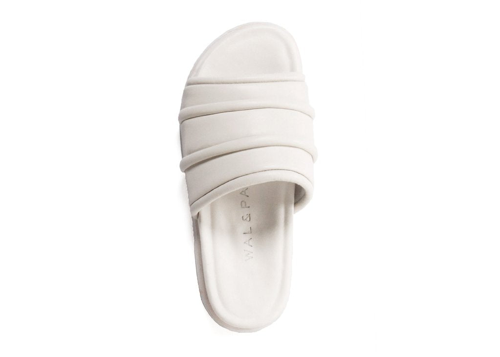 LAKE2 LEATHER SANDALS - OFF WHITE