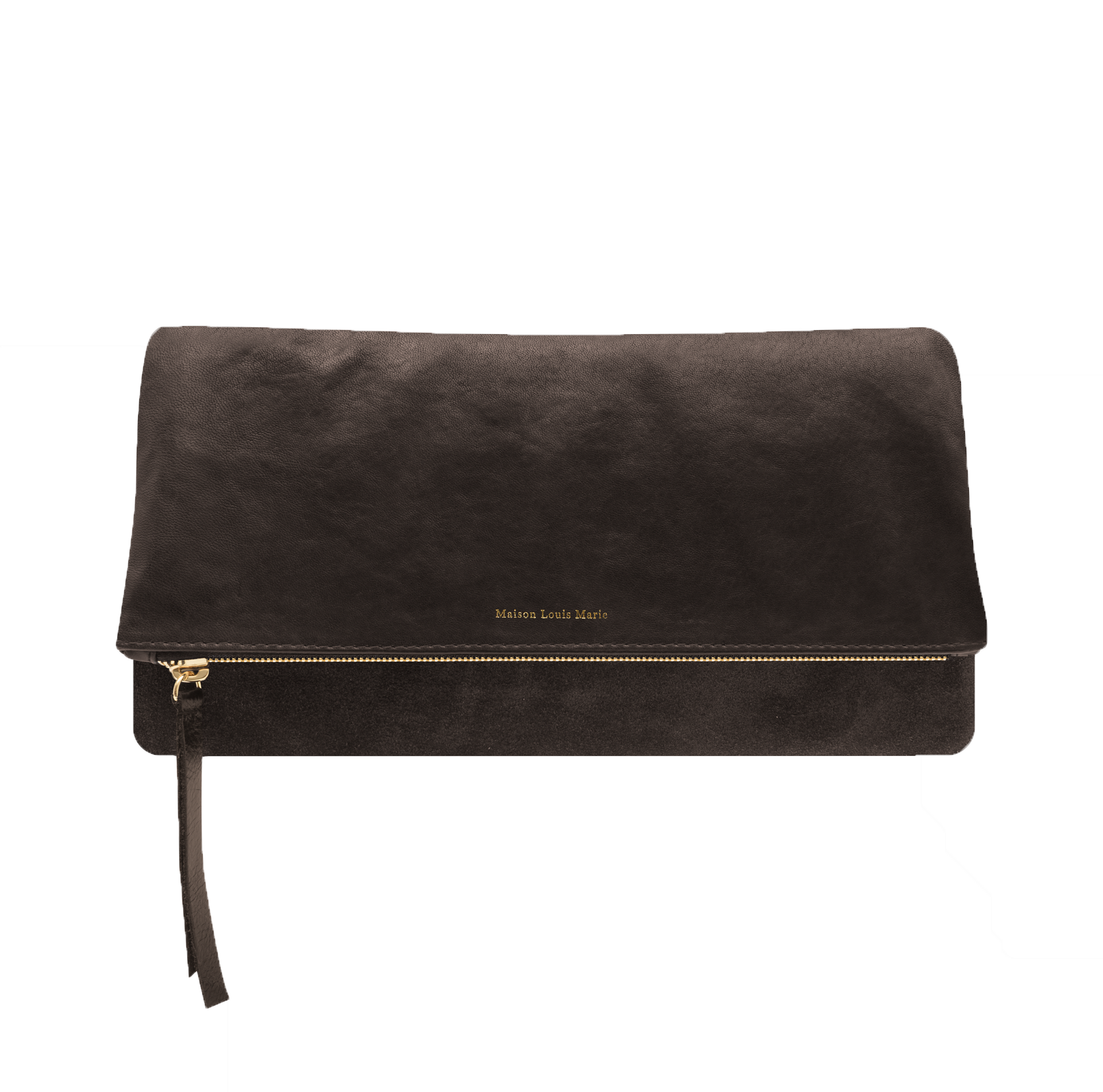 LA POCHETTE PLIABLE - WASHED GOAT - CHOCOLATE