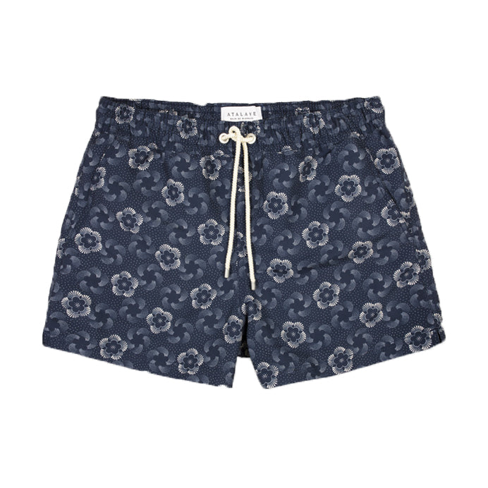 MIRASOL SHORT LENGTH SWIM SHORT - INDIGO