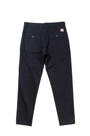 HERRINGBONE BASSA PANTS - DARK NAVY