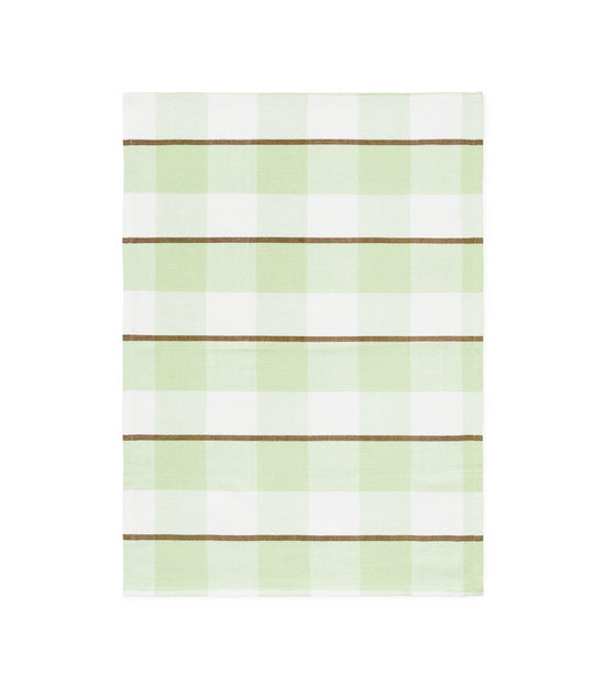 REN TEA TOWEL - PALE GREEN / ELM GREEN