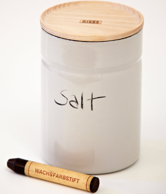 ENAMEL STORAGE CONTAINER - GREY SMALL