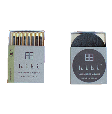 HIBI INCENSE MATCHES, LEMONGRASS 01