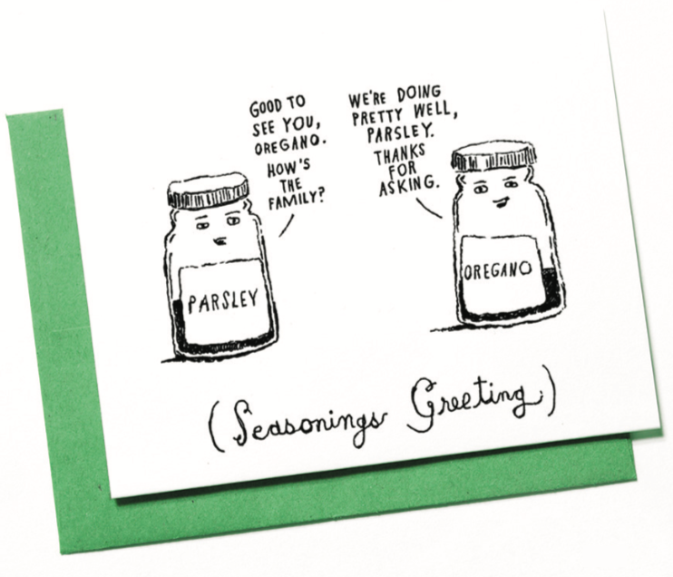 SEASONINGS GREETING - HOLIDAY CARD