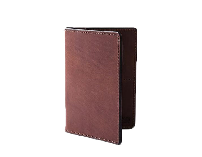 TRAVEL WALLET - COGNAC