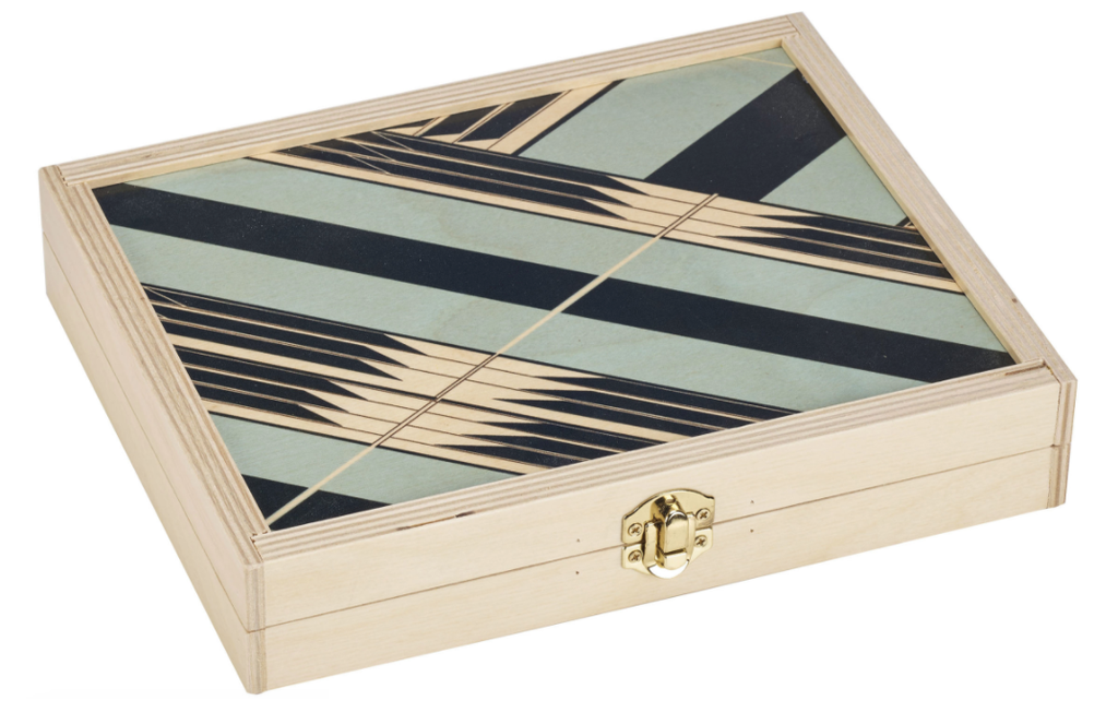 TRAVEL BACKGAMMON SET - SYBIL SEAFOAM
