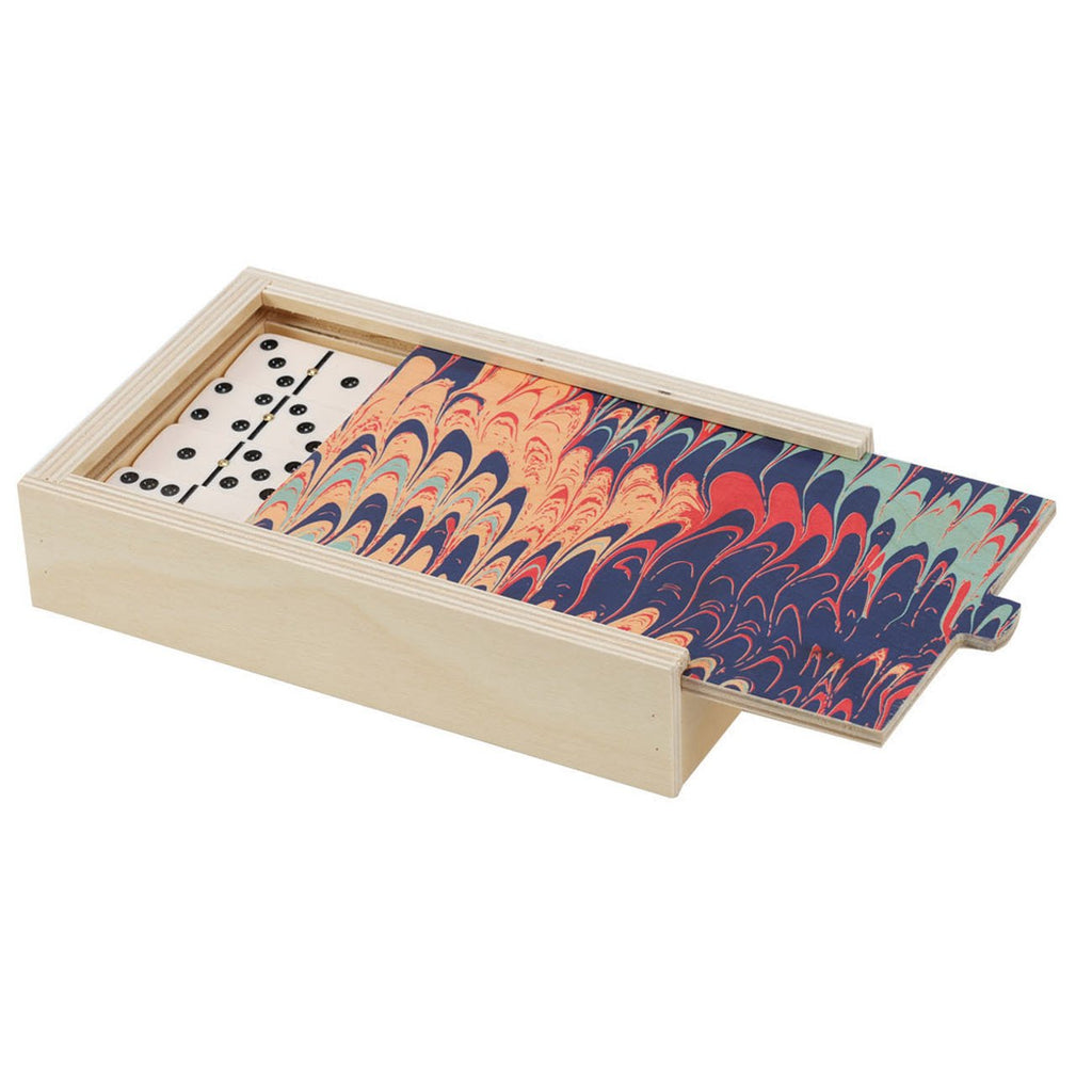 DOMINO SET - MARBLE NAVY