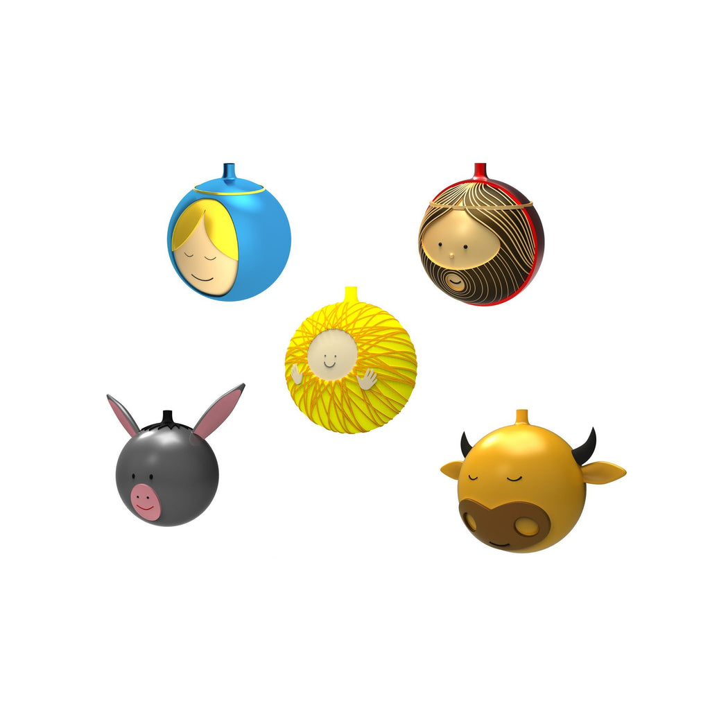 CHRISTMAS BAUBLES - SET OF FIVE