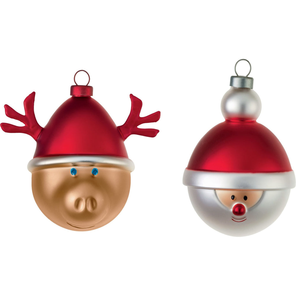 CHRISTMAS BAUBLES - SET OF TWO