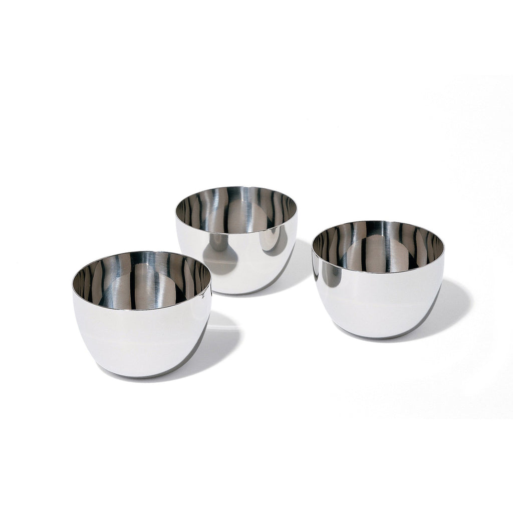 STAINLESS STEEL BOWLS - SET OF THREE