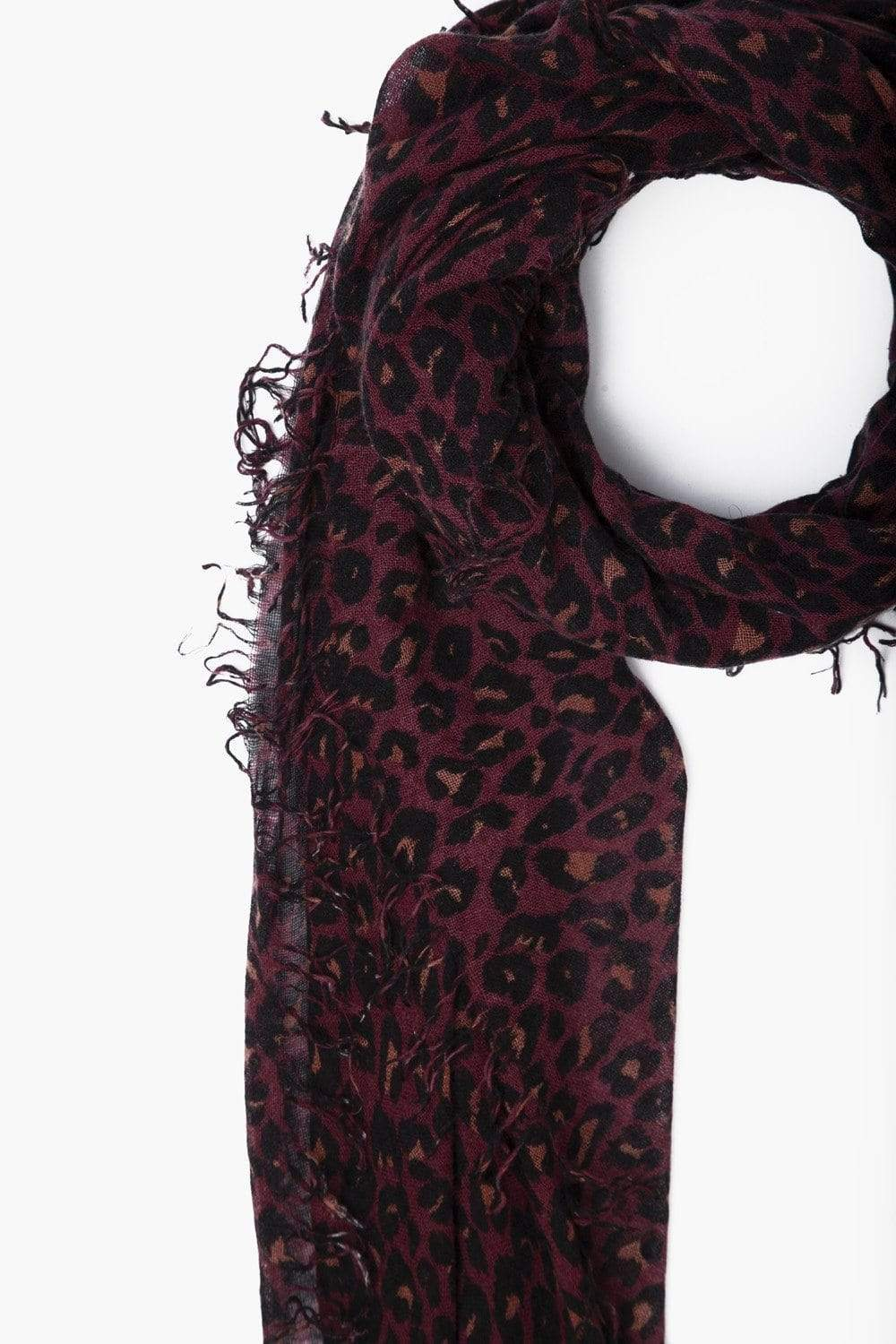 Chan Luu Cashmere and Silk Scarf in Cedarwood Leopard