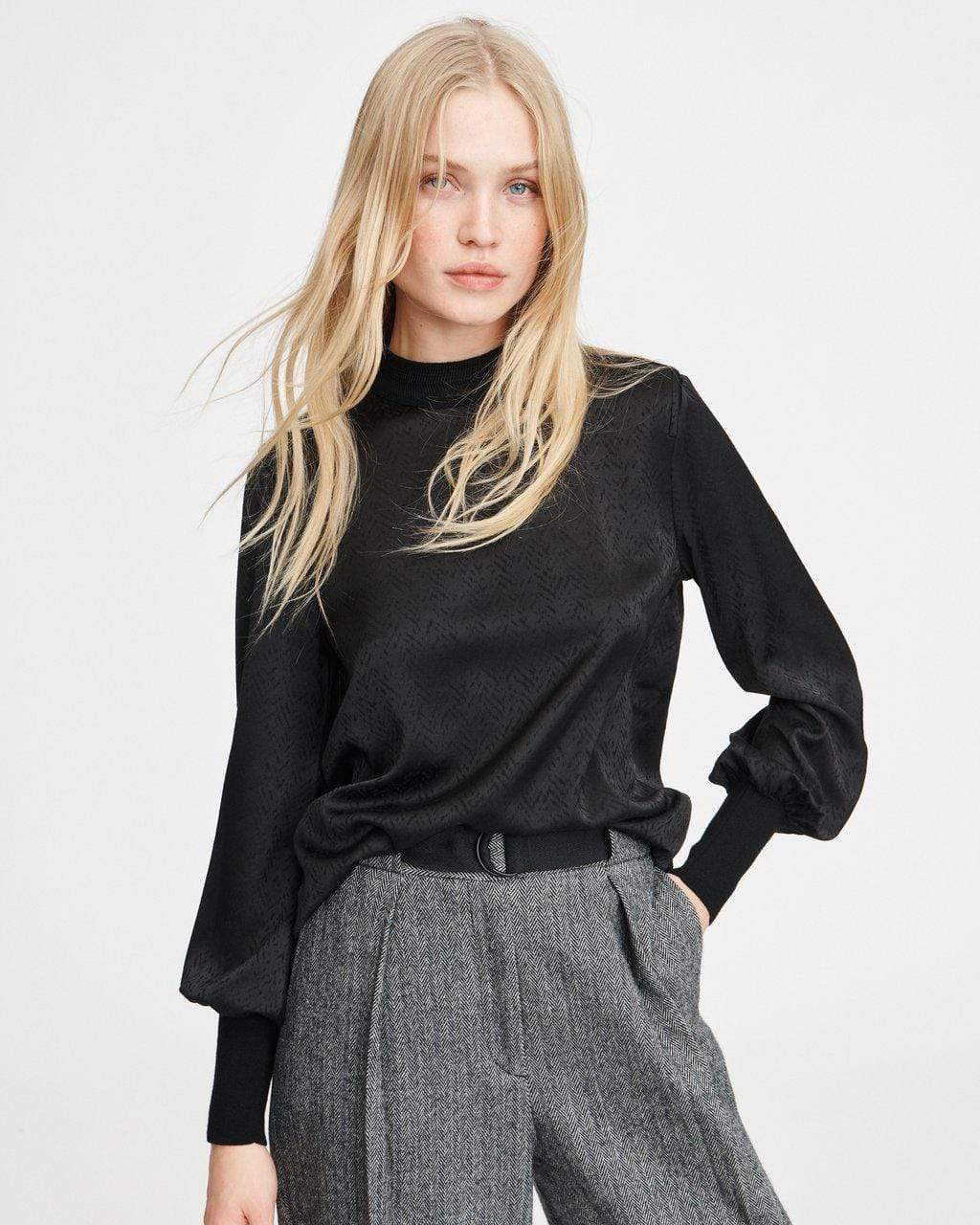 Rag & Bone Letti blouse in Black