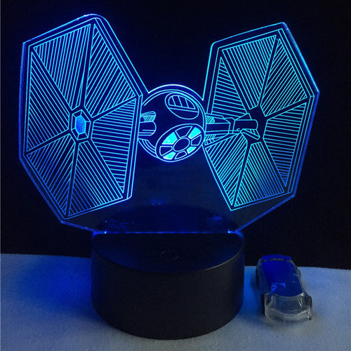 Star Wars TIE Fighter Color-Changing LED USB-Powered 3D Night Light Desk Lamp