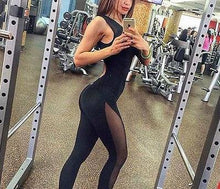 Mesh One-Piece Fitness Dancing Jumpsuit