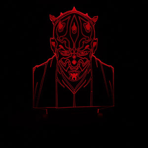 2018 NEW Star Wars Vassal Sith Warrior Darth Maul Head Color-Changing USB-Powered 3D LED Night Light Desk Lamp for Kids Children Bedroom Gift