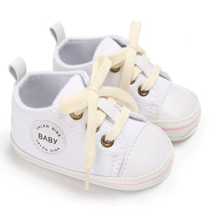 Baby Shoes Infant First Walkers Toddler Canvas Lace-Up Sneakers for Girls Boys