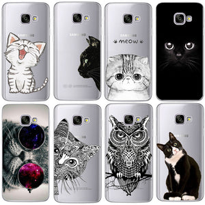 Cute Cat and Animal Silicon Phone Cases (Samsung Galaxy S4 S5 S6 S7 Edge S8 Plus A3 A5 2016 2015 2017)