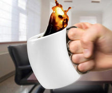 Knuckle-Grip Stainless Steel & Porcelain Mug 2