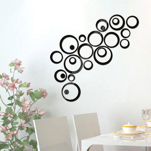 Set of Circles, Wall and Mirror Stickers