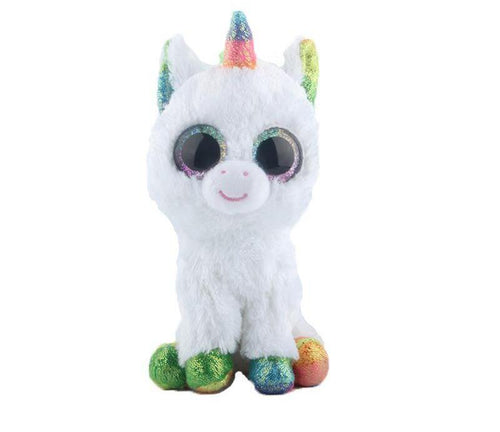 Ty Beanie Boos Stuffed & Plush Animals Colorful Cute White Unicorn Toy Doll (FREE SHIPPING)