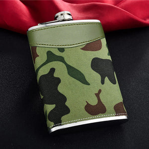 Leather and Stainless Steel Flask with Funnel (Variety of Styles & Sizes Available) 5